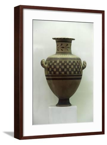 Egypt, Alexandria, Hydria with Geometrical Patterns, Baked Clay--Framed Art Print