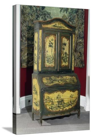 Rococo Style Lacquered Piedmont Trumeau Cabinet, Ca 1750, Italy--Stretched Canvas Print