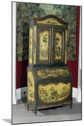Rococo Style Lacquered Piedmont Trumeau Cabinet, Ca 1750, Italy--Mounted Giclee Print