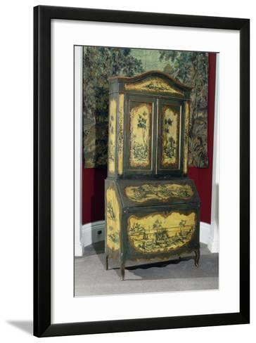 Rococo Style Lacquered Piedmont Trumeau Cabinet, Ca 1750, Italy--Framed Art Print