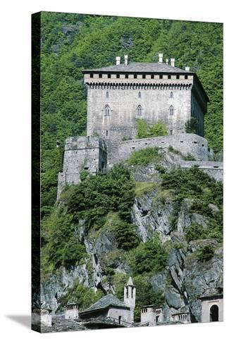 Challant Castle, Verres, Aosta, Valle D'Aosta, Italy--Stretched Canvas Print