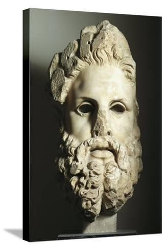 Greek Civilization, Head of Zeus--Stretched Canvas Print