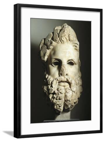 Greek Civilization, Head of Zeus--Framed Art Print
