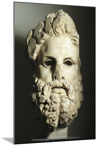 Greek Civilization, Head of Zeus--Mounted Giclee Print