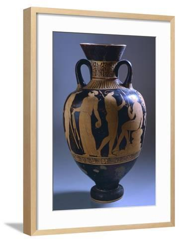 Amphora with Scenes of Everyday Life--Framed Art Print
