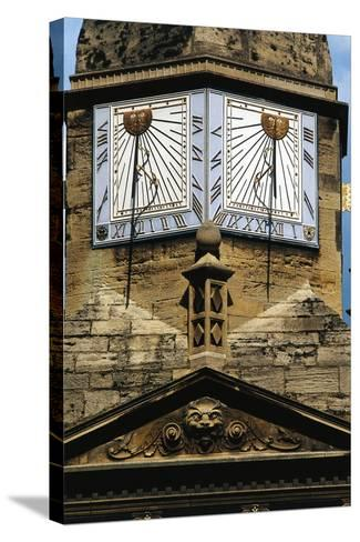 Sundials, Cambridge, England, United Kingdom--Stretched Canvas Print