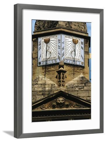 Sundials, Cambridge, England, United Kingdom--Framed Art Print