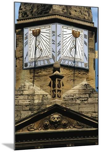 Sundials, Cambridge, England, United Kingdom--Mounted Giclee Print