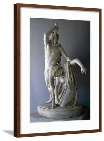 Ludovisi Gaul Killing Himself, Roman Copy from 230 BC Roman Civilization, 3rd Century BC--Framed Art Print