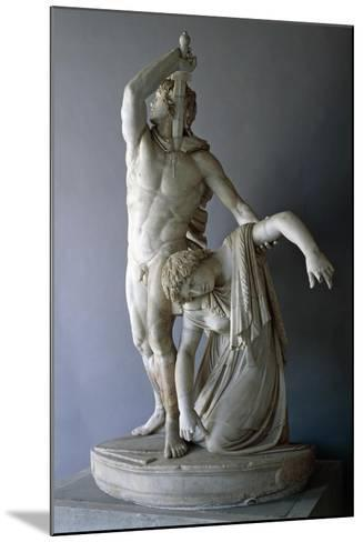 Ludovisi Gaul Killing Himself, Roman Copy from 230 BC Roman Civilization, 3rd Century BC--Mounted Giclee Print