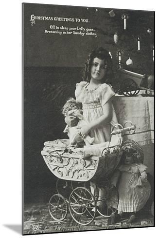 Child with Armand Marseille Doll, Postcard--Mounted Giclee Print