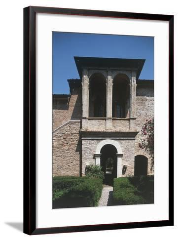 16th Century Loggia, House of Francesco Petrarca, Arqua Petrarca, Veneto, Italy--Framed Art Print