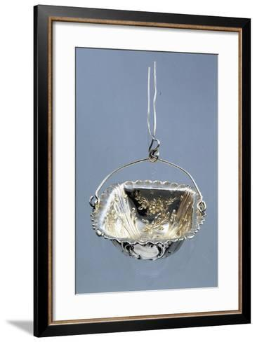 Silver Strainer with Embossed Decorations and Hanger, Minerva Hallmark, France, Late 19th Century--Framed Art Print