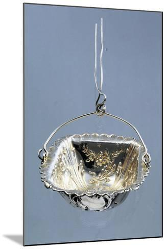 Silver Strainer with Embossed Decorations and Hanger, Minerva Hallmark, France, Late 19th Century--Mounted Giclee Print