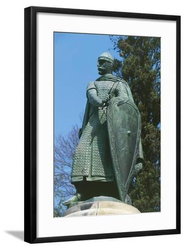 Portugal, Guimarães, Statue of Afonso I Henriques in the Historic Centre, 2001--Framed Art Print