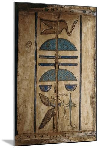 Hieroglyph on Ceiling at Colonnaded Forecourt--Mounted Giclee Print