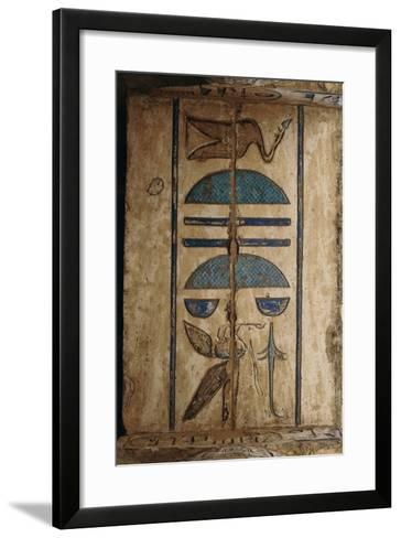 Hieroglyph on Ceiling at Colonnaded Forecourt--Framed Art Print