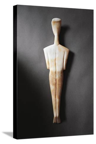 Greece, Athens, Sculpture Representing a Feminine Figure Seen from the Rear--Stretched Canvas Print
