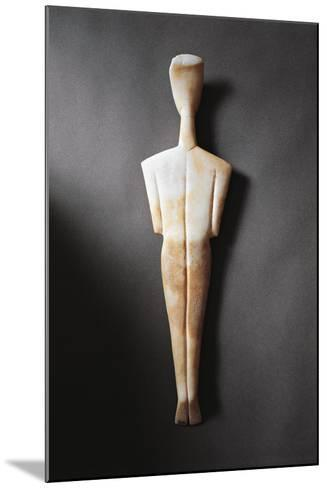Greece, Athens, Sculpture Representing a Feminine Figure Seen from the Rear--Mounted Giclee Print