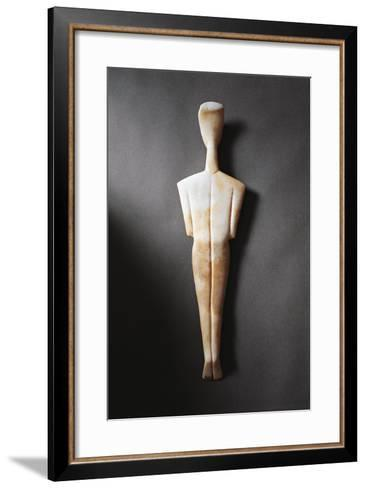 Greece, Athens, Sculpture Representing a Feminine Figure Seen from the Rear--Framed Art Print