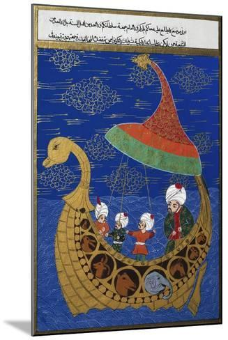 Prophet Noah and the Ark, Ottoman Miniature, Manuscript. Turkey, 16th Century--Mounted Giclee Print