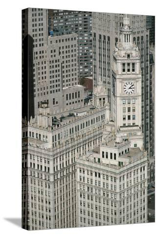 Downtown as Seen from Leo Burnett Building, Chicago, Illinois, USA--Stretched Canvas Print