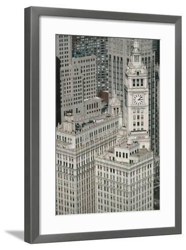 Downtown as Seen from Leo Burnett Building, Chicago, Illinois, USA--Framed Art Print