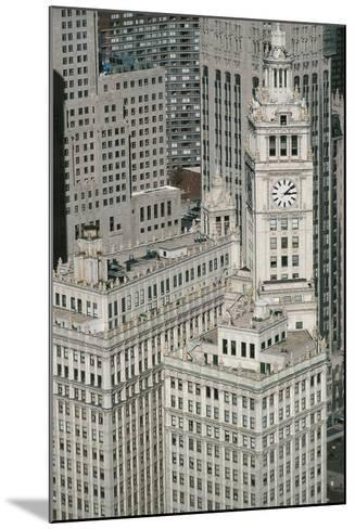 Downtown as Seen from Leo Burnett Building, Chicago, Illinois, USA--Mounted Giclee Print