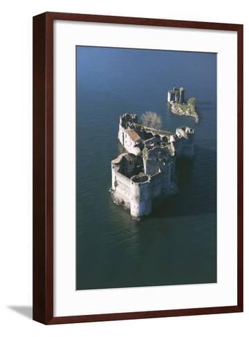 Italy, Piedmont Region, Castle Vitaliana of Cannero Riviera, Aerial View--Framed Art Print