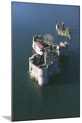 Italy, Piedmont Region, Castle Vitaliana of Cannero Riviera, Aerial View--Mounted Giclee Print