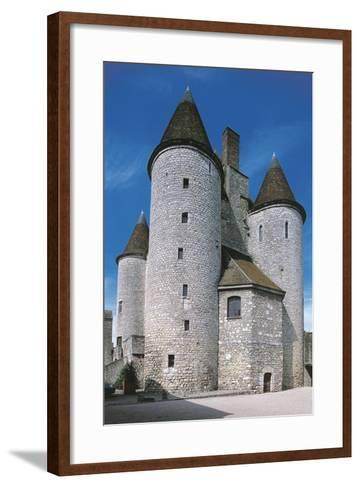 View of Fortified Chateau De Nemours, Ile-De-France, France, 12th Century--Framed Art Print