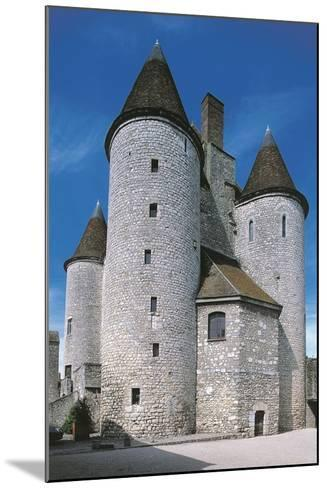View of Fortified Chateau De Nemours, Ile-De-France, France, 12th Century--Mounted Giclee Print