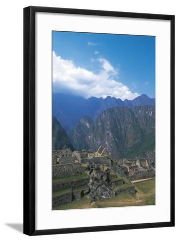 Peru, Urubamba Valley, Incas Ruins of Machu Picchu--Framed Art Print