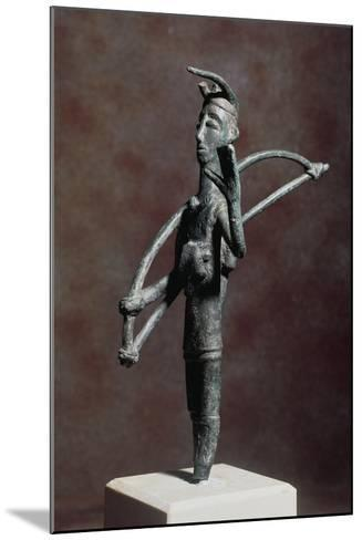 Archer in Prayer with Bow on His Shoulder--Mounted Giclee Print