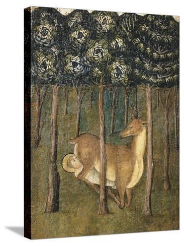 St Eligius Suckled by a Doe, Detail from the Stories of the Life of St Eligius--Stretched Canvas Print