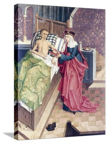 St Agnes and the Sick, Detail from Stories of St Agnes--Stretched Canvas Print