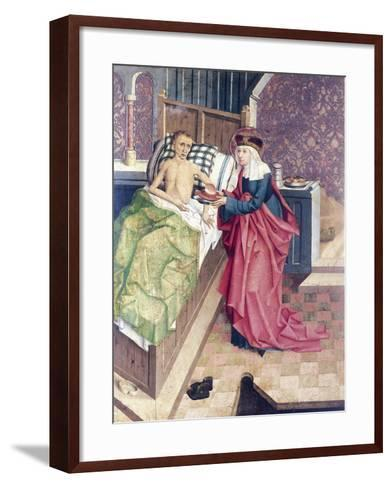 St Agnes and the Sick, Detail from Stories of St Agnes--Framed Art Print