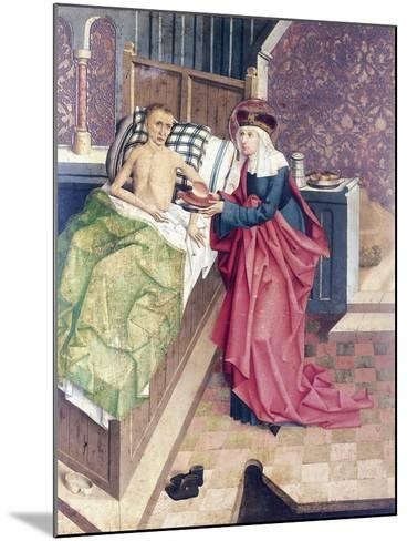 St Agnes and the Sick, Detail from Stories of St Agnes--Mounted Giclee Print