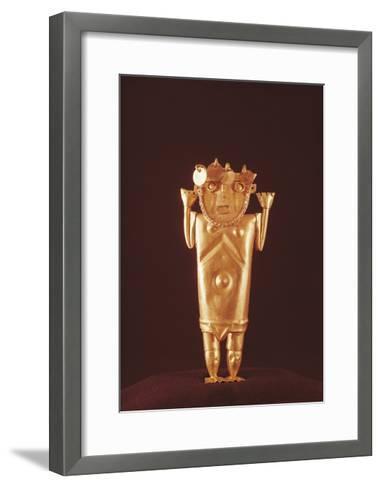 Pre-Inca Mochica Gold Figure, Form Peru, 4th-9th Century--Framed Art Print