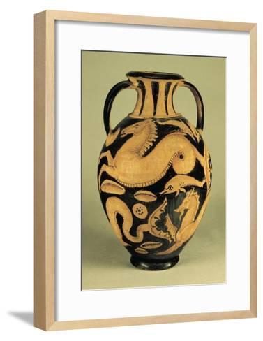 Red-Figure Amphora Depicting Sea Animals--Framed Art Print