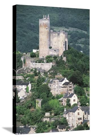 France, Midi-Pyrenees, Najac, Royal Fortress of Najac--Stretched Canvas Print
