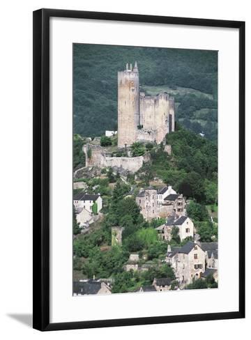 France, Midi-Pyrenees, Najac, Royal Fortress of Najac--Framed Art Print