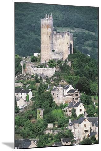 France, Midi-Pyrenees, Najac, Royal Fortress of Najac--Mounted Giclee Print