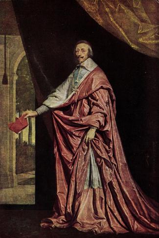 K?nstler Kardinal Jean De Richelieu in Gewand--Stretched Canvas Print