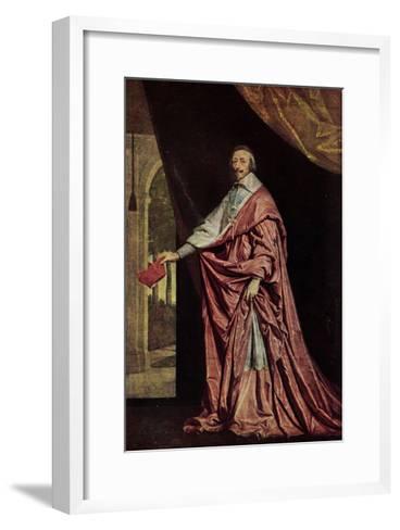 K?nstler Kardinal Jean De Richelieu in Gewand--Framed Art Print