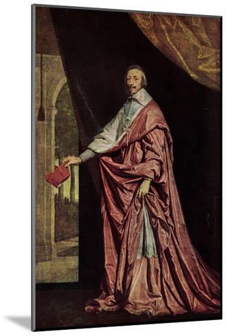 K?nstler Kardinal Jean De Richelieu in Gewand--Mounted Giclee Print
