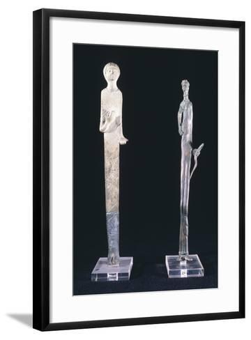 Votive Statues in Bronze Depicting Haruspex Offerers. Etruscan Civilization--Framed Art Print