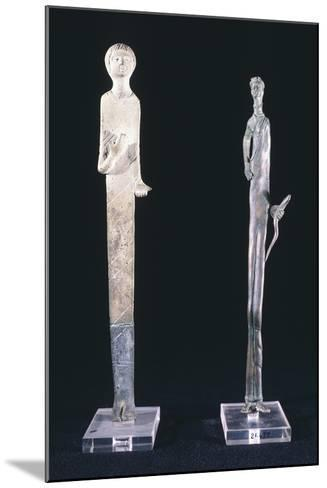 Votive Statues in Bronze Depicting Haruspex Offerers. Etruscan Civilization--Mounted Giclee Print