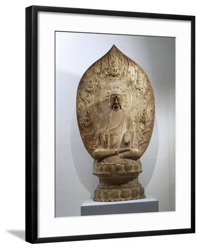 Buddha Amitabha Relief in Northern Qi Style, from the Hebei Province, China--Framed Art Print