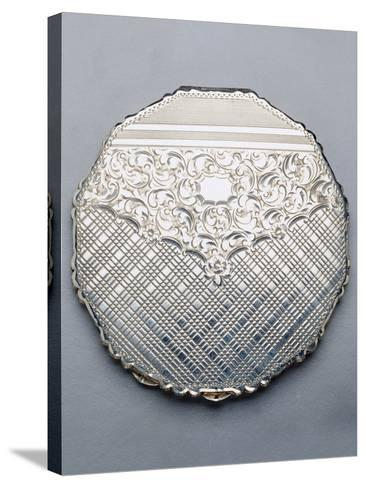 Multi-Sided Silver Compact Powder Case, 1940, Germany--Stretched Canvas Print